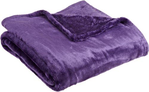 Northpoint Cashmere Plush Velvet Throw, Purple, 50