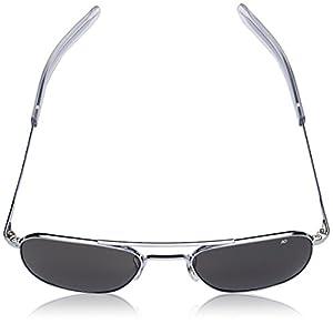 AO Eyewear Original Pilot Sunglasses 52mm Frames with Bayonet Temples and True Color Grey Glass Lenses (OP52S.BA.TC)