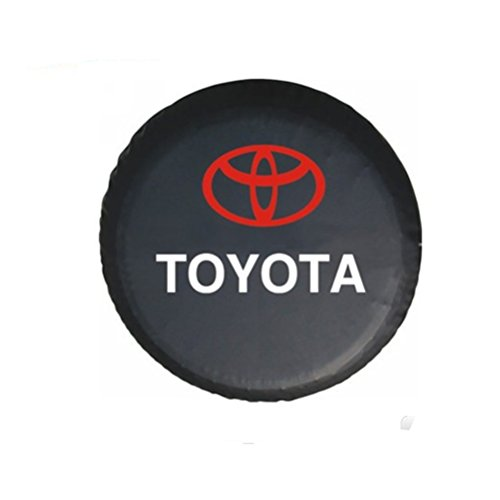 Bobbycool PVC Car Spare Wheel Cover Spare Tire Cover 17 Inch For SUV TOYOTA