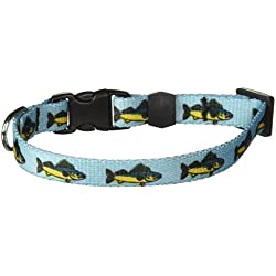 Yellow Dog Design Walleye Dog Collar-Size Teacup-3/8 inch Wide and fits Neck Sizes 4 to 9 inches