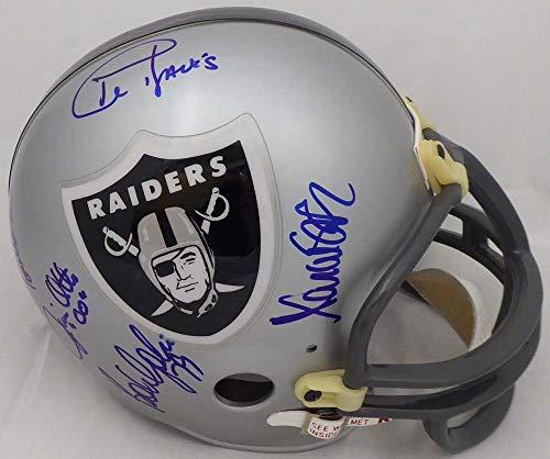 Oakland Raiders Legends Autographed Full Size Replica Helmet With 9 Signatures Including Al Davis, Marcus Allen & Howie Long Beckett BAS - Replica Allen Helmet Marcus