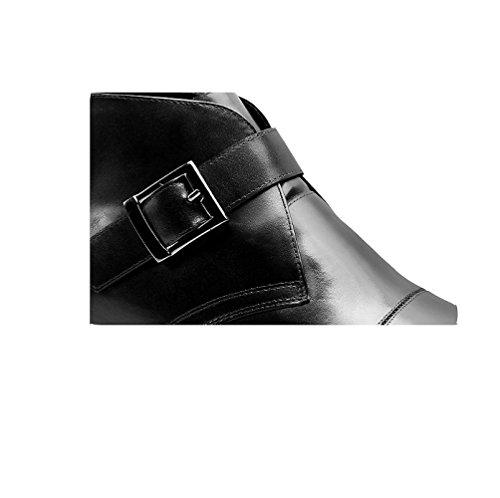 Retro Guida Scarpe Inverno Black Tempo di Comodo Cuoio NIUMJ All'aperto Antiscivolo Uomo Moda Libero F8RYRp