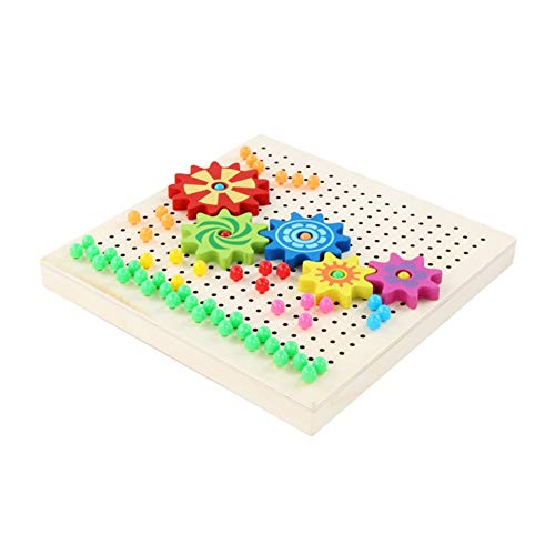 - URMAGIC 283 Pcs Kids Playing Novelty Mushroom Nail Puzzle Flying Chess Gear Peg Board Wooden Creative Mosaic Pegboard Jigsaw Puzzle Game Educational Toys for Children