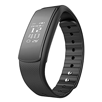 CORADO HILL Smart Wristband with Heart Rate Monitor Bluetooth 4.0, IP67 Waterproof, Fitness Activity Tracker with Health Sleep Monitor Pedometer Calorie/Step Counter for Android and IOS
