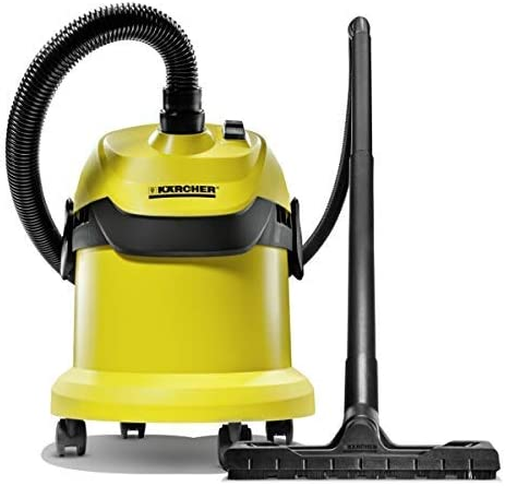 Kärcher WD2 Wet and Dry Vacuum, Steel, 1000 W, 12 liters, Yellow: Amazon.co.uk: Kitchen & Home