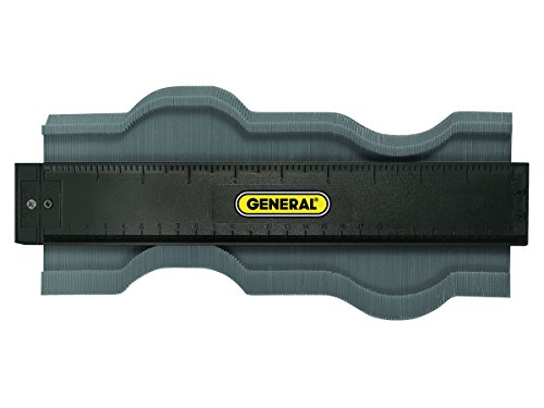 General Tools 833 Plastic Contour Gauge, Profile Gauge, Shape Duplicator, 10-Inch (254mm), Precisely Copy Irregular Shapes For Perfect Fit and Easy Cutting Ceramic Tile Wood Box