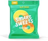 SmartSweets Peach Rings 1.8 Oz Bags (Box Of 12), Candy With Low Sugar (3g) & Low Calorie (80)- Free of Sug