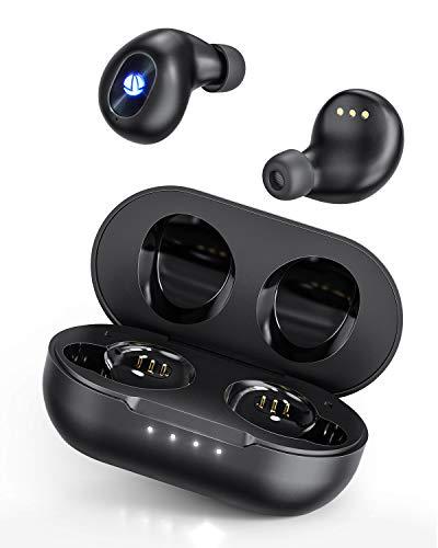 Type-C In-Ear Ohrhörer Kabellos Bluetooth Kopfhörer, iTeknic True-Wireless Earbuds Headset Touch-Control Bluetooth 5.0 mit Mikrofon und kabellose Ladecase für Android IOS Handy