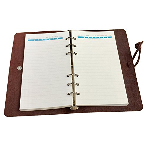 Refillable Leather Journal Lined Luxurious