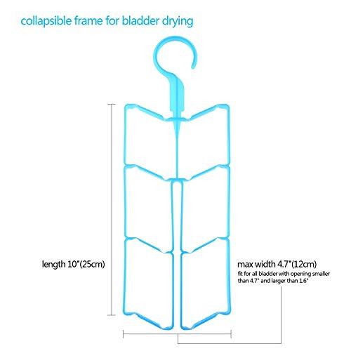 Risefit Wasser Trinkblase Tube Set 4 Stück, Multifunktionale Hydration Rucksack Tasche Ventil Schlauch Sauger Bite Pinsel Reinigung-Set, Pinsel Set für Trinksystem Universal (Blau)
