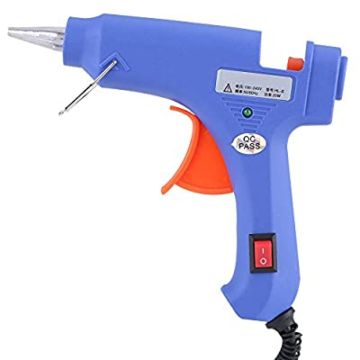 Qiilu Hot Melt Glue Gun with 12pcs Glue Clear Sticks Dent Repair Tools US Plug 100V-220V