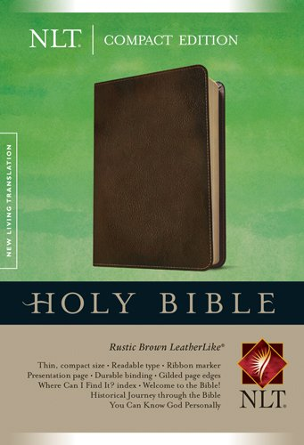 Compact Edition Bible NLT (LeatherLike, Brown) ()