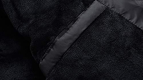 Padded Black Stand Velvet Warm Outwear Men's Color Cotton Plus Size Velvet Collar Cotton Clothes Large Soild Zip Jacket Winter Tianya Coats RXTOqO