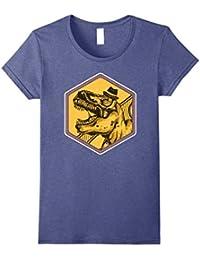 Retro Dinosaur Shirt T-Shirt : Cute Trex Hipster Fedora Gift