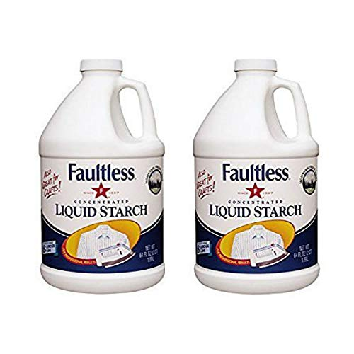 FAULTLESS Premium Liquid Starch (64 Oz, 2 Pack) Liquid Starch for Ironing That Makes Your Clothes New Again, Use as a Spray on Starch That Reduces Ironing Time with No Flaking, Sticking or Clogging