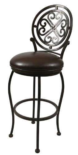 "picture of Pastel Furniture Island Falls 26"" Barstool without arms in Autumn Rust upholstered in Ford Brown"