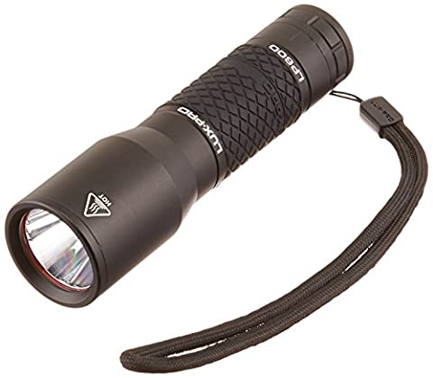LUX-PRO 350 Lumens Extreme TAC 600 Flashlight, Black (350 Lumen Light)