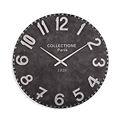 Bassett Mirror Harris Wall Clock in Soft Gray Finish MC4174