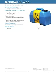 Speakman GravityFlo SE-4400 9-Gallon Portable Eyewash