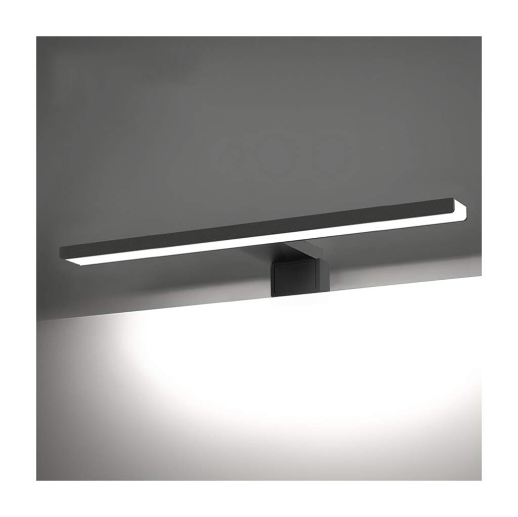 JBP max Spiegelleuchte Badezimmerleuchte Spiegelfrontseitenleuchten Spiegelleuchten Makeup Lights Schwarz - JBP15,Weißlight,8W 60CM