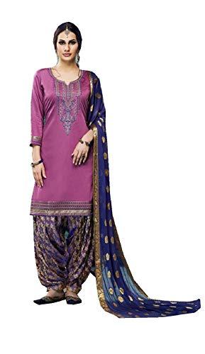 Delisa Indian/Pakistani Cotton Ethnic wear Punjabi Patiala Salwar Kameez (Light Purple, 2X-52) (Punjabi Best Shayari Ever)