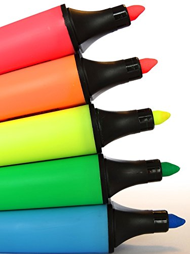 Home Comforts Print on Metal Colorful Fluorescent Pens Color Highlighter Print 12 x 18. Worry Free Wall Installation - Shadow Mount is Included. by Home Comforts (Image #1)