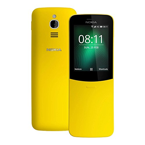 Nokia 8110 (TA-1059) 512MB/4GB 2.45-inches Factory Unlocked, International Stock (Yellow)