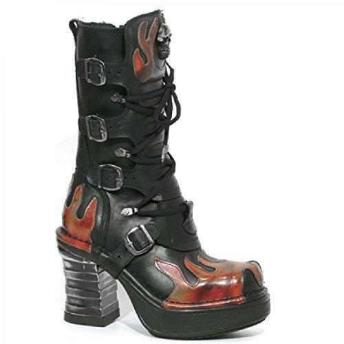 Nuovi Stivali Di Roccia M.8591-c1 Hardrock Gothic Punk Damen Highheel Stiefel Schwarz