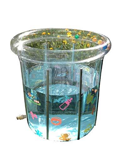 Newborn Baby Swimming Pool, Thick Inflatable Transparent Bracket Children Swimming Bucket, 0-3 Years Old Baby Bath Barrel, Water Saving Pool (80cmx80cm) floding bathtub by ESPERANZA (Image #7)