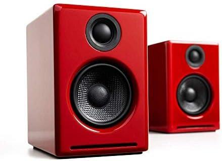 Audioengine A2+ Plus Wi-fi Speaker Bluetooth | Desktop Monitor Audio system | Dwelling Music System aptX Bluetooth, 60W Powered Bookshelf Stereo Audio system | AUX Audio, USB, RCA Inputs,16-bit DAC (Pink)