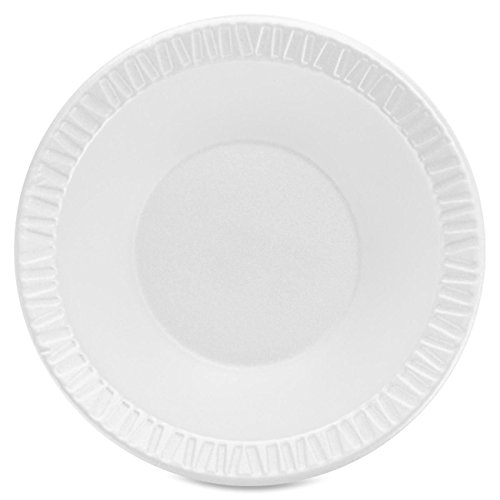 Dart 12BWWCR, 10-12 Oz. Concorde White Non-Laminated Foam Bowl, Disposable Take Out Catering Serving Bowls ()