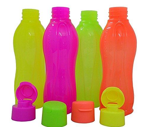 Tupperware Eco Sports Water Bottle Flip Top 500ml 4pcs