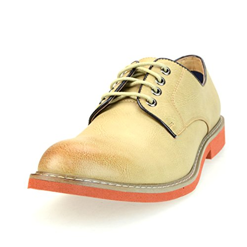 O-NINE Casual Dress Shoes Drving Laceup Shoes Beige Black Brown Gray Navy Red Camel Camo Yoms1300beigest sypsfXHgO