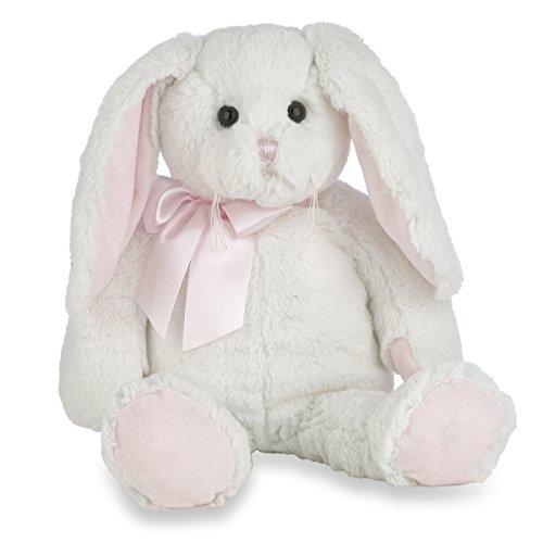 Bunny Bearington Collection (Bearington Loppy Longears White and Pink Girl Plush Stuffed Animal Bunny Rabbit, 16