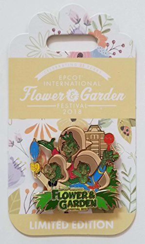 Disney Pin - 2018 Epcot Flower and Garden Three Caballeros Topiary