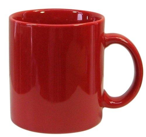 Waechtersbach Fun Factory II Red Mugs, Set of 4 (Waechtersbach Ceramic Mug)