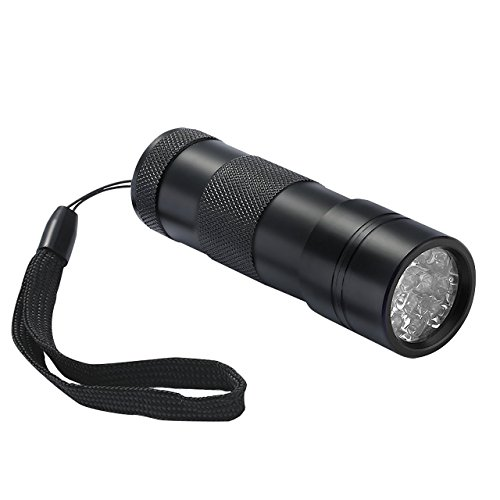 Cymas UV Flashlight, 12 LED Ultra Violet Blacklight Urine & Scorpion Detector Torch to Find Stains on Carpet