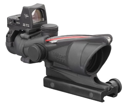 Trijicon 4x32mm ACOG Dual Illumination Red Chevron, used for sale  Delivered anywhere in USA