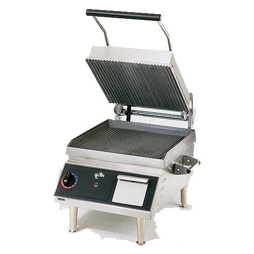 "Table Top King star (CG14I) - 20"" Grooved Pro-Max Sandwich Grill"