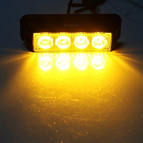 Emergency Light HEHEMM 86 LED 12V Hazard Strobe Lights Flashing Warning Light for Sun Visor 12 Modes Fits Commercial Truck Boat Car Red and White