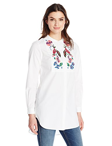 French Connection Women's Rothko Cotton Top, Summer White/Multi, 2 by French Connection