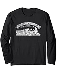 Vintage Steam Engine Boiler Inspector Long Sleeve Shirt
