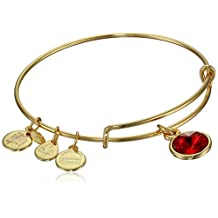 "Alex and Ani ""Bangle Bar"" July Birthstone Yellow-Gold Expandable Bracelet"