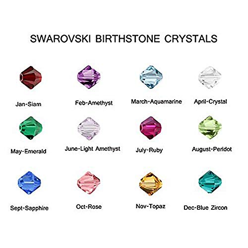 1200pc Set of Swarovski Birthstone 4mm Bicone Crystal Beads