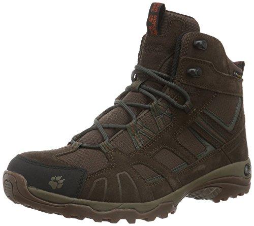 Jack Wolfskin Men Vojo Hike Mid Texapore Uomo Scarpe Da Trekking E Da Trekking - Impermeabile Marrone (terra Arancione 3720)