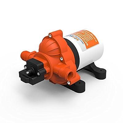 Water Diaphragm Self Priming Pump 2.8 Gallons/min (10.6 Lpm) 45 PSINew Rv / Marine 12 Volt Dc / 12 V Demand Fresh