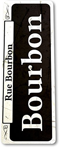 TIN SIGN A866 Bourbon Street New Orleans Shop Market French Quarter Rustic Metal Decor