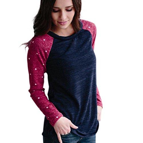 f3c695222fb ... Manga larga Camiseta casual Blusa superior. high-quality Cinnamou Tallas  grandes de la señora del verano Señora de las mujeres del