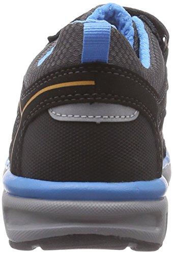 Superfit LUMIS - zapatilla deportiva de piel niños negro - negro (negro KOMBI 02)