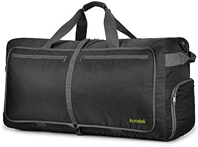 Kundeli 120L Extra Large Travel Duffel Bag, Lightweight Packable Luggage Duffle Bag for Men Women, Waterproof Camping Bags 6 Color Choices Black